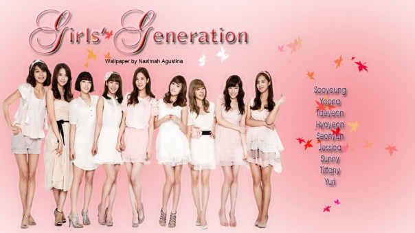 Girl's generation pink wallpaper vita by Nazimah Agustina