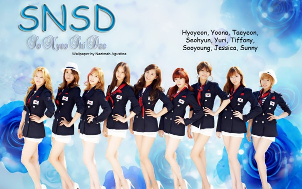 snsd blue flower wallpaper by Nazimah Agustina