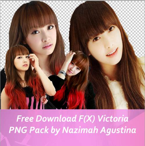 Free Download F(X) Victoria PNG Pack by Nazimah Agustina