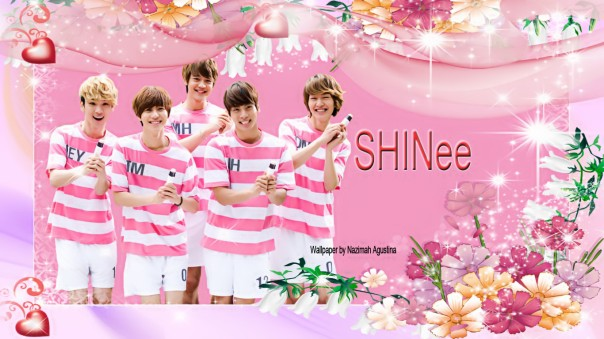 SHINee's back happy pink white by Nazimah Agustina