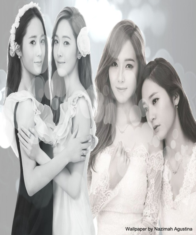 jessica and krystal jung background black white elegant