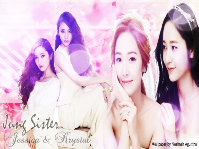 Jung Sister-Jessica and Krystal Wallpaper by Nazimah Agustina
