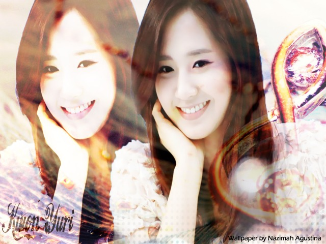 SNSD Yuri the vintage wallpaper background HD classic by Nazimah Agustina