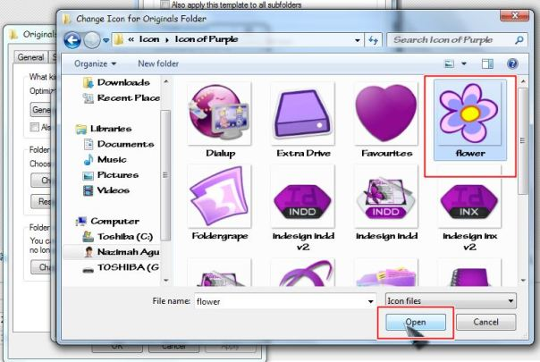 mengganti icon folder pada pc 3