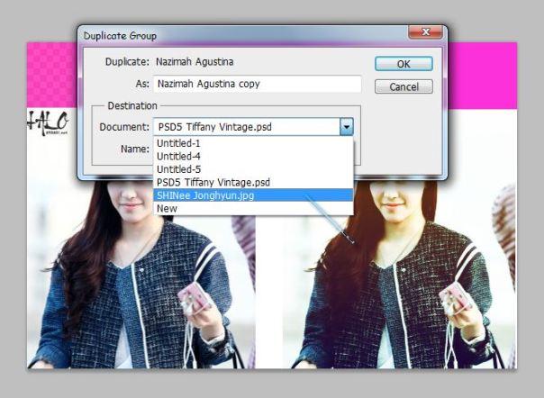 bagaimana cara menambahkan PSD Coloring pada photo 1
