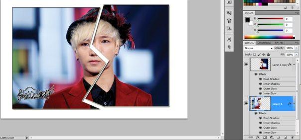 bagaimana cara merobek foto di photoshop 5