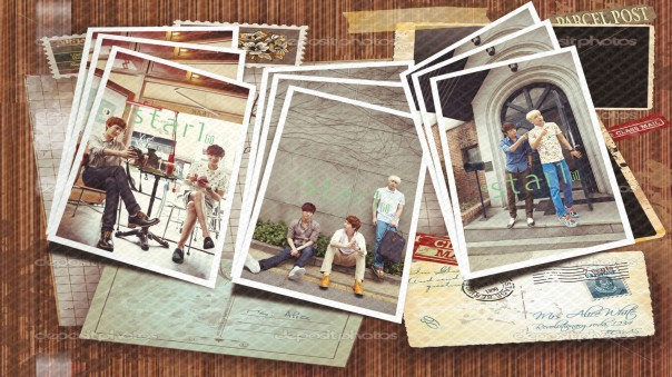 Vintage scrapbook composition