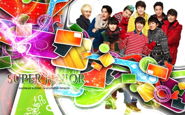 SUPER JUNIOR full COLOR wallpaper lotte