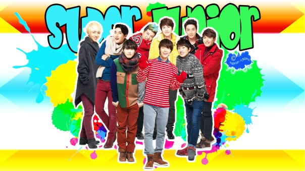 Super Junior colorful wall lotte dutty new year