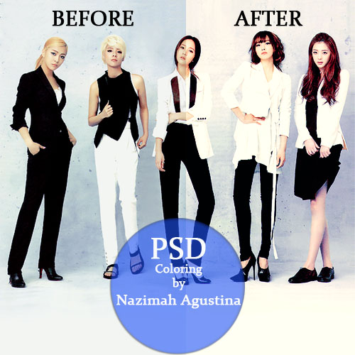 1 PSD Coloring f(x) for Marie Claire by Nazimah Agustina