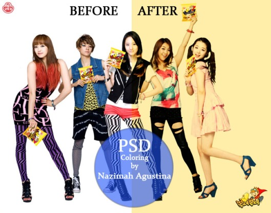 2 PSD Coloring f(x) hard yellow and sephia by Nazimah Agustina