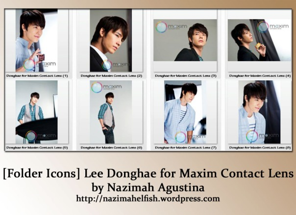 Free Download Folder IconsLee Donghae for Maxim Contact Lens  by Nazimah