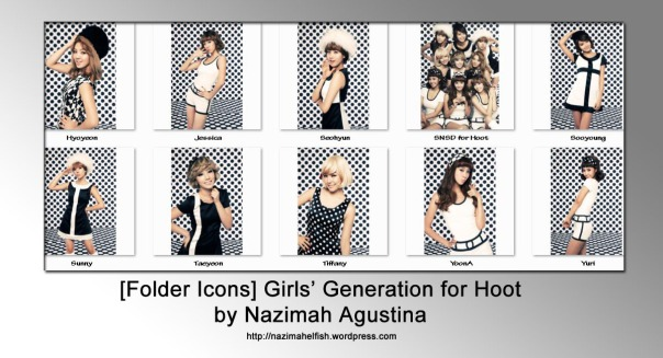 free download SNSD hoot teaser photos icon pack by nazimah agustina