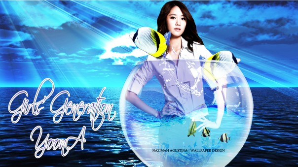 GIRLS' GENERATION YOONA IN THE THE SEA LIGHTING WALLPAPER