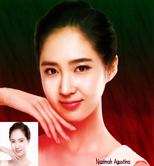 girls' generation yuri on smudge painting