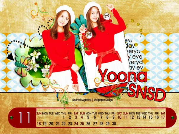 november calendar im yoona cute and beautiful
