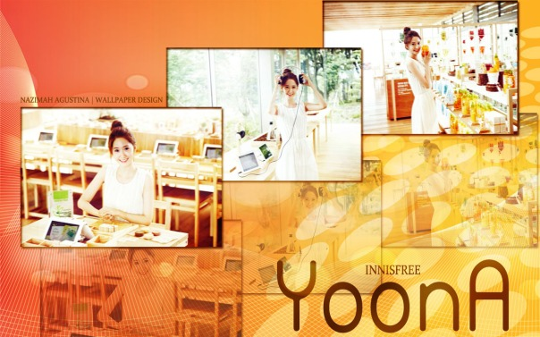 SNSD YOONA INNISFREE SIMPLE WALLPAPER ORANGE JEJU
