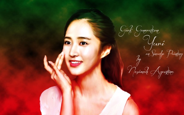 snsd yuri on smudge painting by nazimah agustina