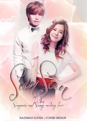 SUNSUN Cover fanfic sungmin and sunny couple romance Ketika Sungmin dan Sunny bercinta super generation by nazimah