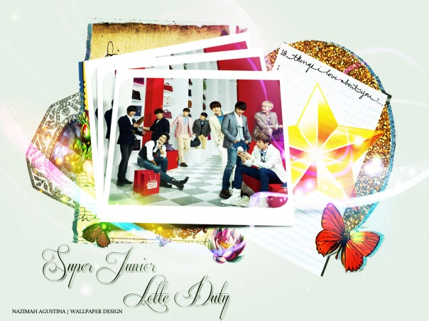 super junior for lotte duty tutorial upload to show wallpaper