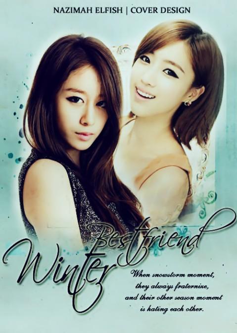 Winter bestfriend T-Ara Jiyeon and T-Ara Eunjung Happy Saat badai salju mereka selalu bersahabat dan saat musim yang lain mereka saling membenci