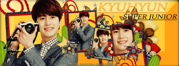 facebook header cho kyuhyun sj 850x315 pixel orange and frame by nazimah