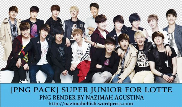 FREE DOWNLOAD SUPER JUNIOR FOR LOTTE PNG RENDER BY NAZIMAH AGUSTINA