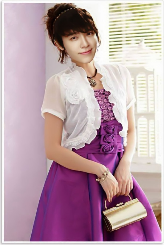 lee donghae as purple dress cute by nazimah agustina