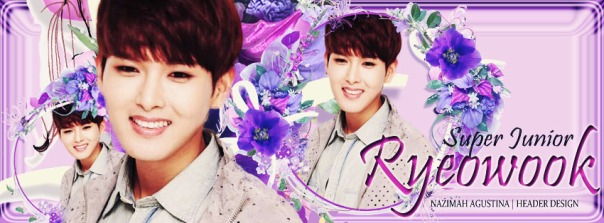 the purple header of kim ryeowook super junior by nazimah