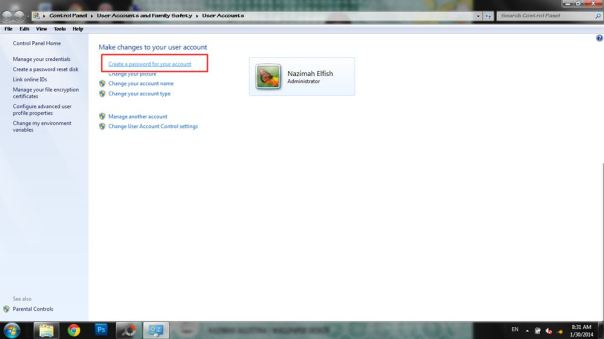 cara memberi password  pada windows 7 _2