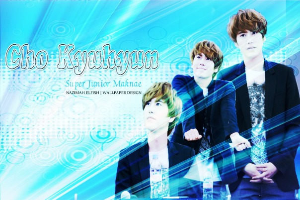 CHO KYUHYUN blue lighting curves level WALLPAPER BY NAZIMAH