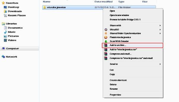 merubah file biasa menjadi rar atau zip 1