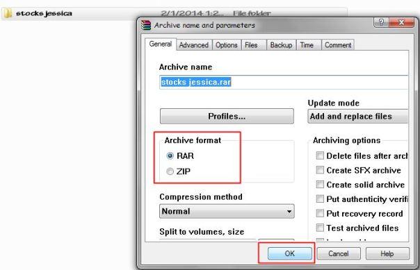 merubah file biasa menjadi rar atau zip 2