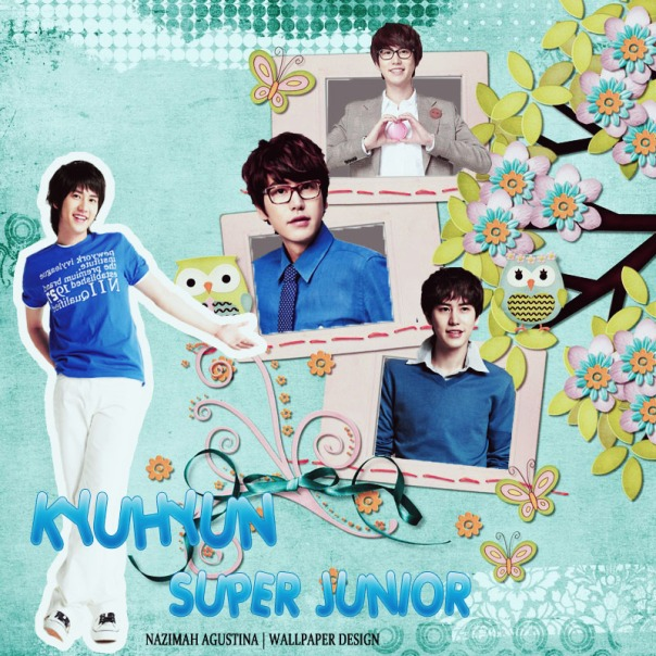 super junior blue frame kyuhyun marcus evil maknae wallpaper by nazimah elfish
