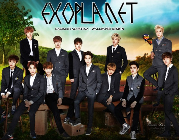 EXO for editing stocks and tutorial how to make NATURE or manipulation WALLPAPER BY NAZIMAH AGUSTINA