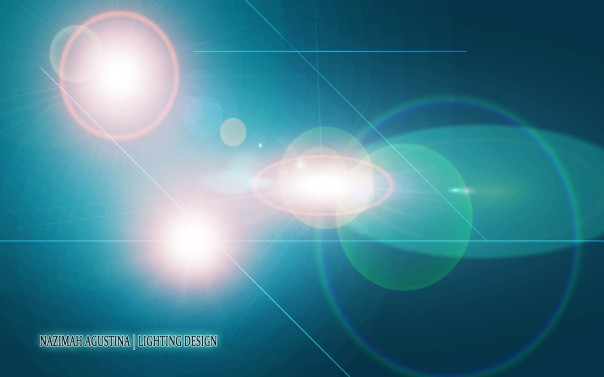 triple lens flare glow lighting screen galaxy