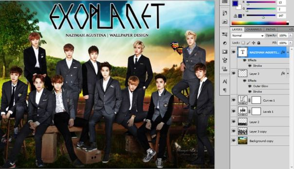 [Tutorial and Stocks] How To make Nature Wallpaper Using Photoshop Exo Version 10