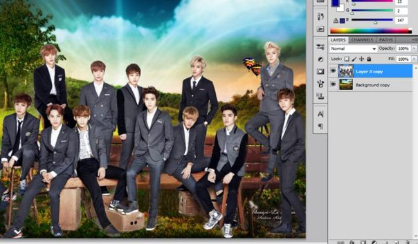 [Tutorial and Stocks] How To make Nature Wallpaper Using Photoshop Exo Version 2