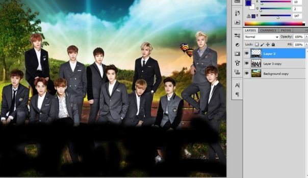 [Tutorial and Stocks] How To make Nature Wallpaper Using Photoshop Exo Version 5