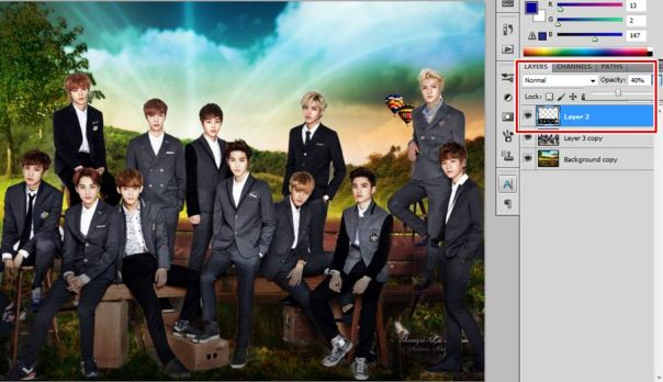 [Tutorial and Stocks] How To make Nature Wallpaper Using Photoshop Exo Version 7