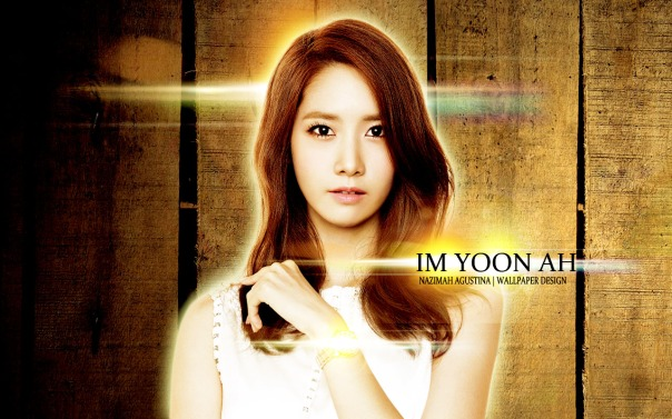 Girls' Generation YoonA Casio for Tutorial how to make simple wallpaper but interesting and elengant shining using photoshop