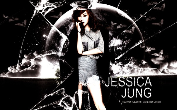 jessica jung snsd halloween wallpaper black white soshi