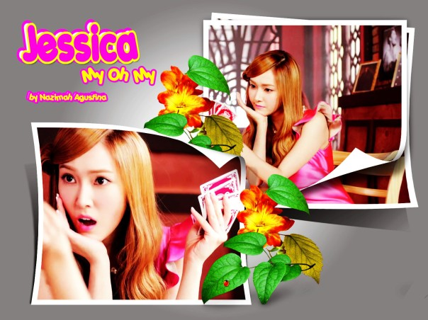 jessica my oh my mv wallpaper bauty pink innocent blonde flowers japan 2013