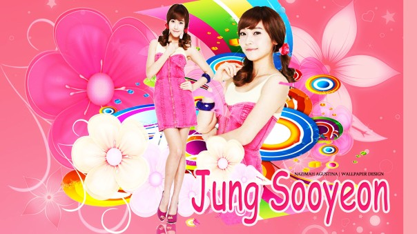jung jessica pink flowers vita500 wallpaper pretty sica