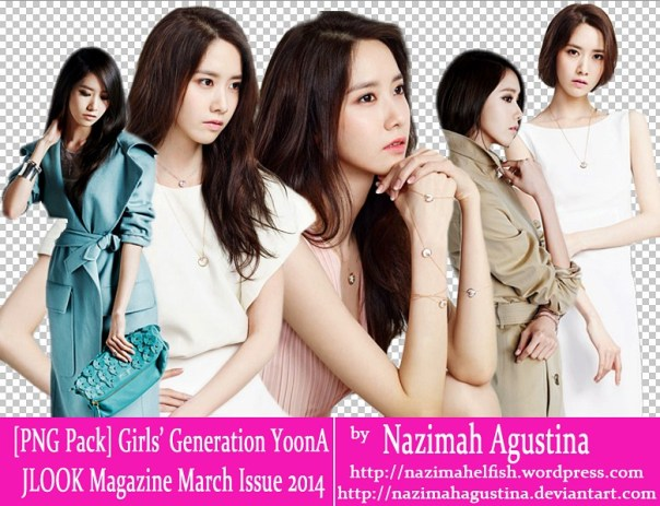 PNG Pack SNSD YoonA for JLOOK Magazine March Issue 2014 by Nazimah Agustina