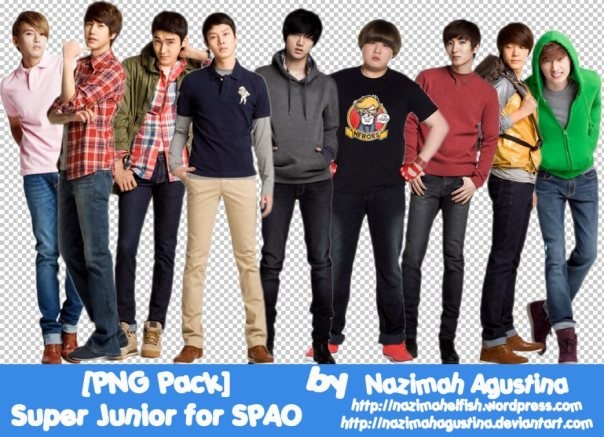 PNG Pack Super Junior for SPAO Kyuhyun Ryeowook siwon donghae eunhyuk leeteuk shindong yesung