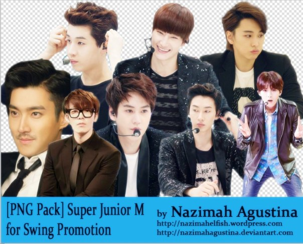 [PNG Pack] Super Junior M for Swing Promotion by Nazimah Agustina