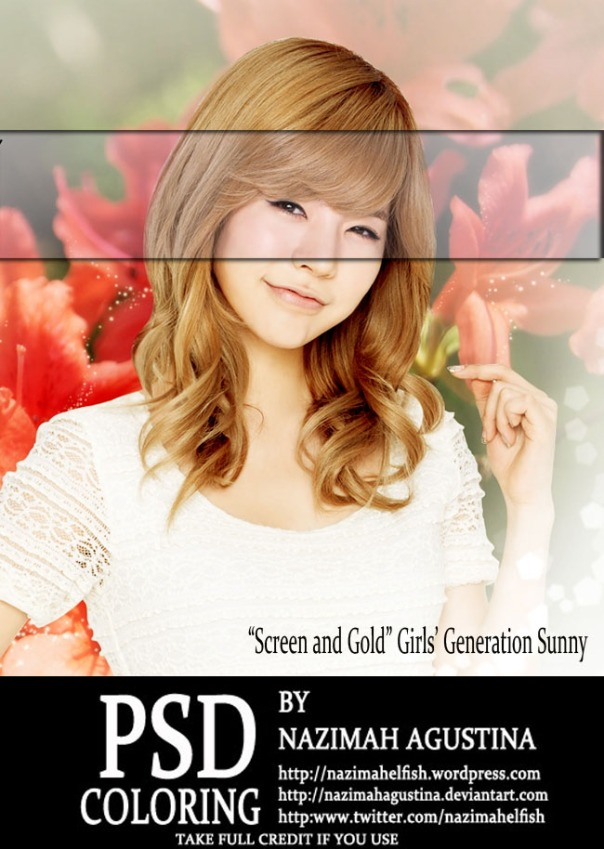 snsd sunny psd coloring shining screen gold