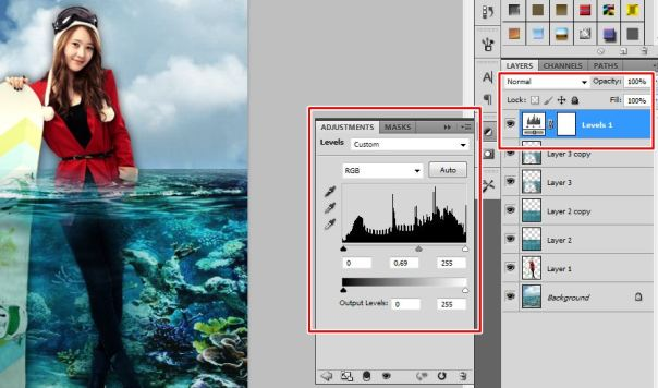 10 [Tutorial and stock] Membuat Manipulasi Bawah Air Menggunakan Photoshop