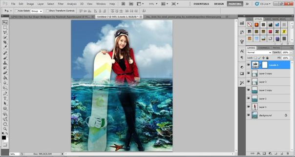 11 [Tutorial and stock] Membuat Manipulasi Bawah Air Menggunakan Photoshop
